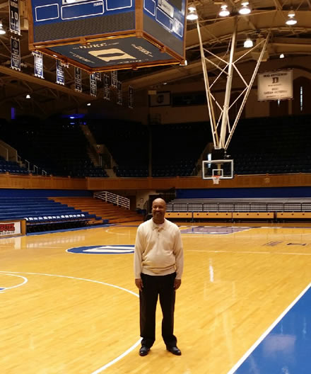 Mark Sills At World Famous Cameron Indoor Stadium